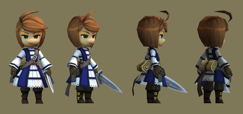 Low Poly Knight Girl